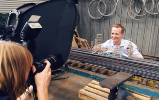 Industrial Springs and Steel photo shoot with The Advertiser