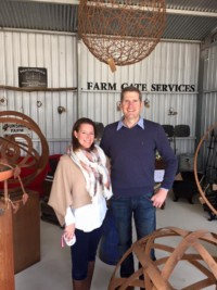 Cathy and Asho Day from Farm Gate Services